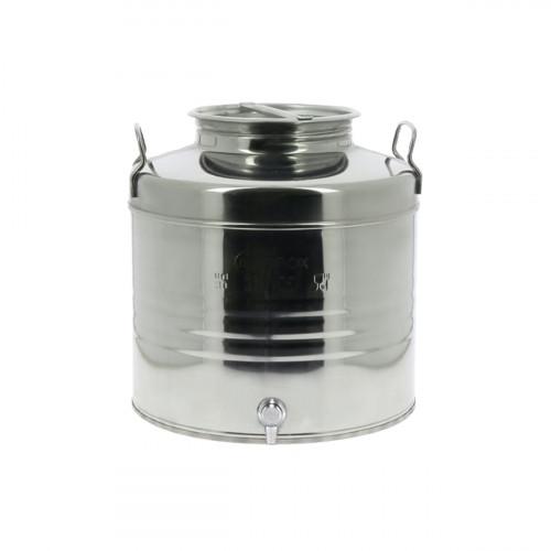 Fût inox 30 L bas avec robinet pour huile d'olive