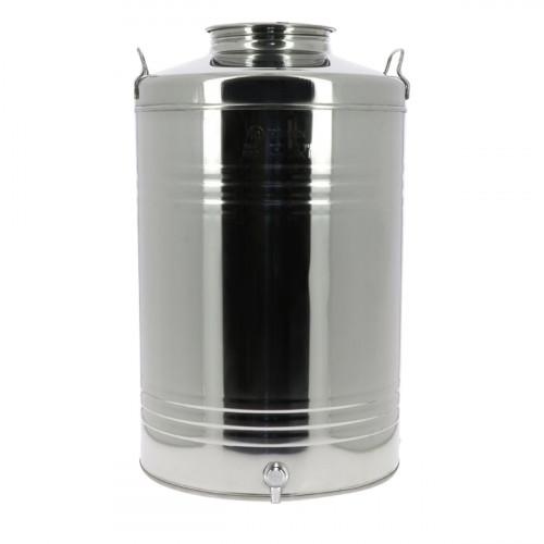 Fût inox 100L pour huile d'olive