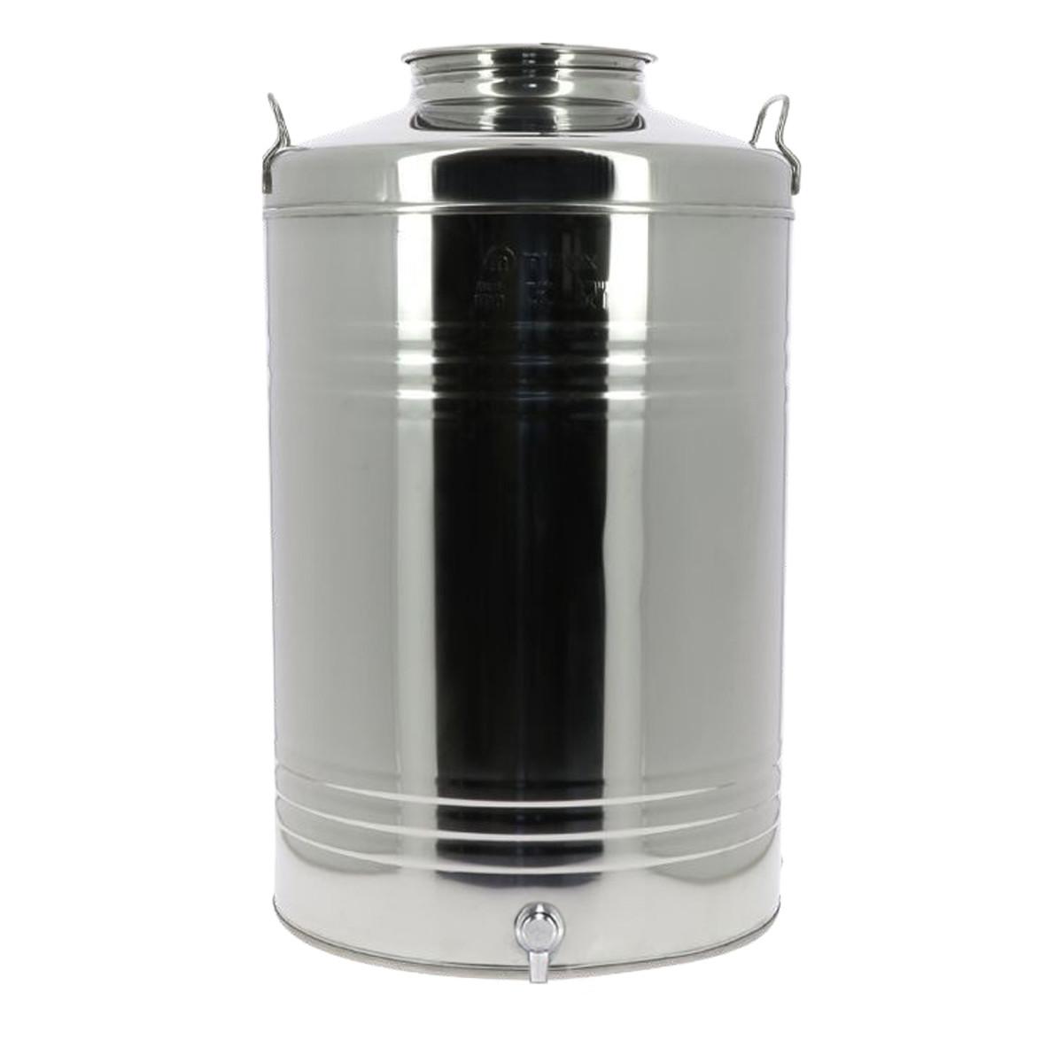 Fût inox 100L pour huile...