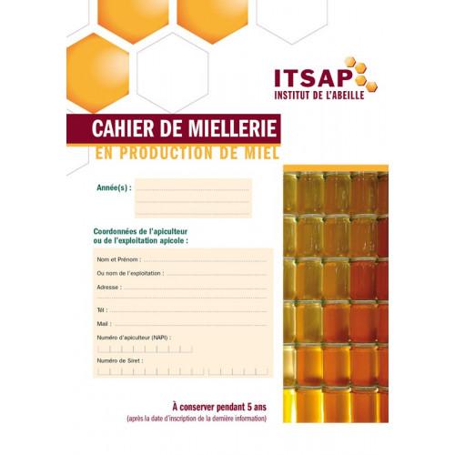 Cahier de miellerie en production de miel