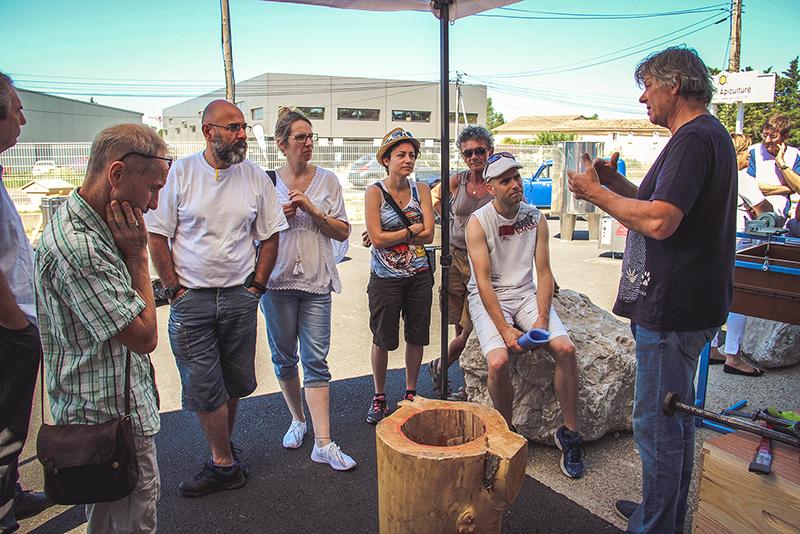 Atelier fabrication de ruche-tronc