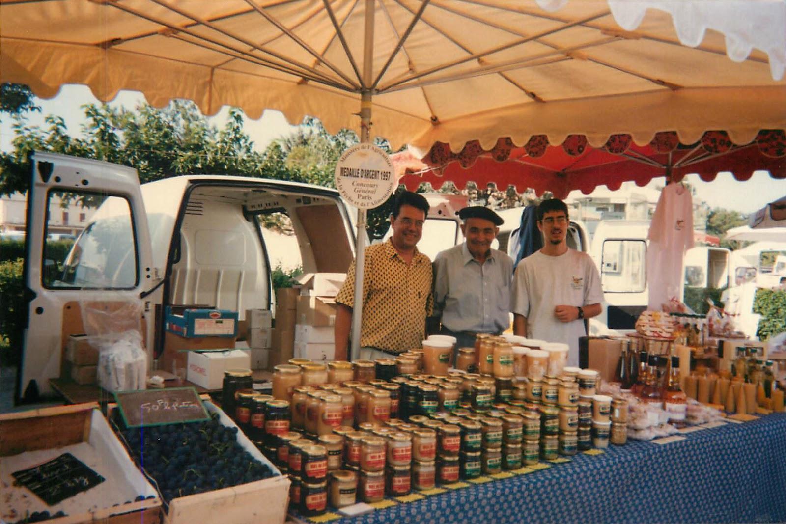 Coustellet, 20 septembre 1995, Alain, Paul et Guillaume Lombard