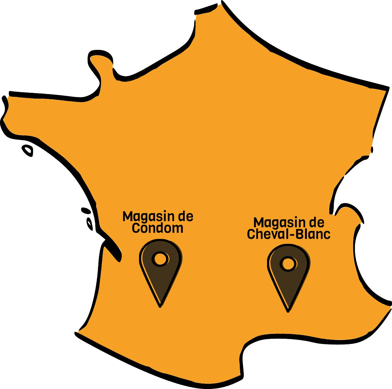 Carte de France des magasins d'apiculture